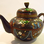 Late 19Th. Century Cloisonne Teapot...