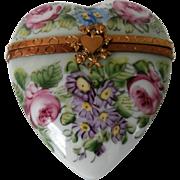 Limoges Heart Perfume Box....