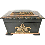Victorian Papier Mache Tea Caddy...