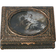 Hand Painted Cartouche German Casket..