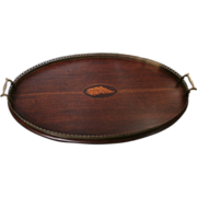 Inlaid English Wooden Tray...