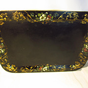 Late 19Th Century Floral Tole Tray....