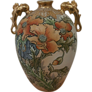 Hand Painted Nippon Vase...
