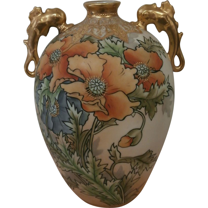 Hand Painted Nippon Vase From Litchfieldantiques On Ruby Lane