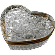 Vintage Heart Shaped Crystal Box...