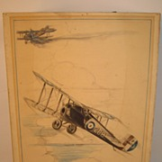 Sopwith Snipe Original Drawing... Circa/ 1938..