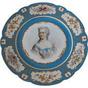 Mid 19th Century Chateau des Tuileries hand painted plate...