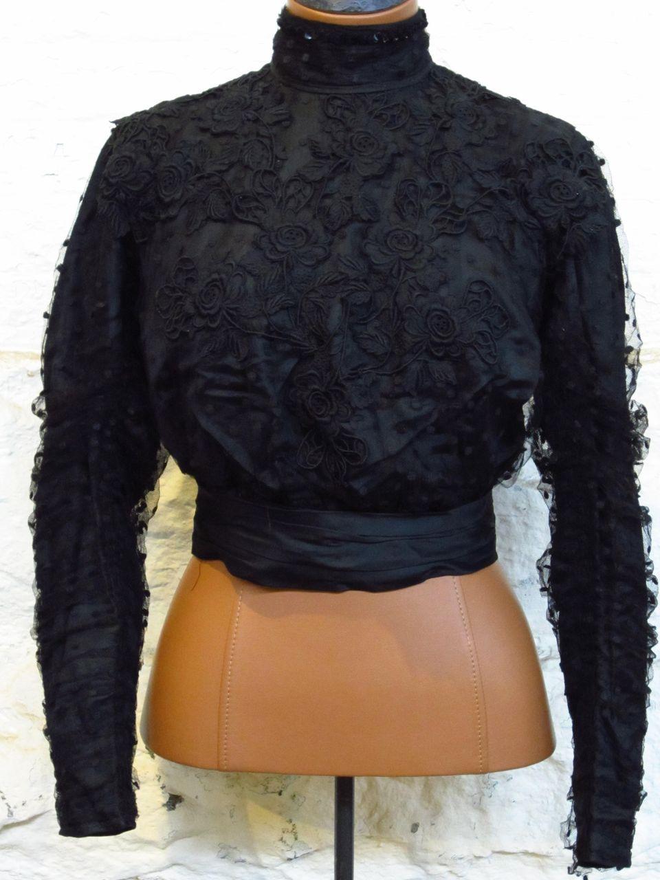 Victorian Edwardian Silk Lace Waist....