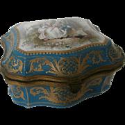 Mid 19th Century Sevres Bleu Celeste Casket...