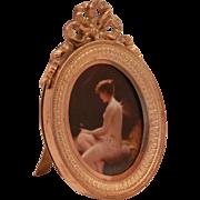 Bronze French Dore Miniature Frame....