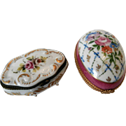 Pair 1930's China Trinket Boxes...