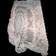 French Alencon Lace Tablecloth...