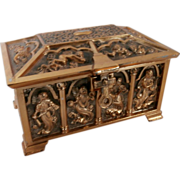 Decorative Repousse Music Box..