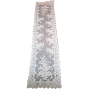 19th Century Blonde Silk Chantilly Lace Shawl...