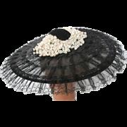 1940's Black Lace Hat...