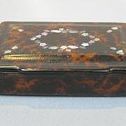 Paper Mache Snuff Box...