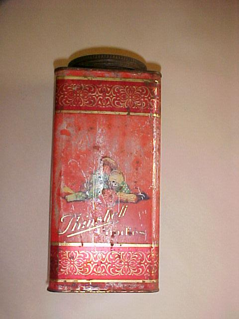 Large Red Candy Tin