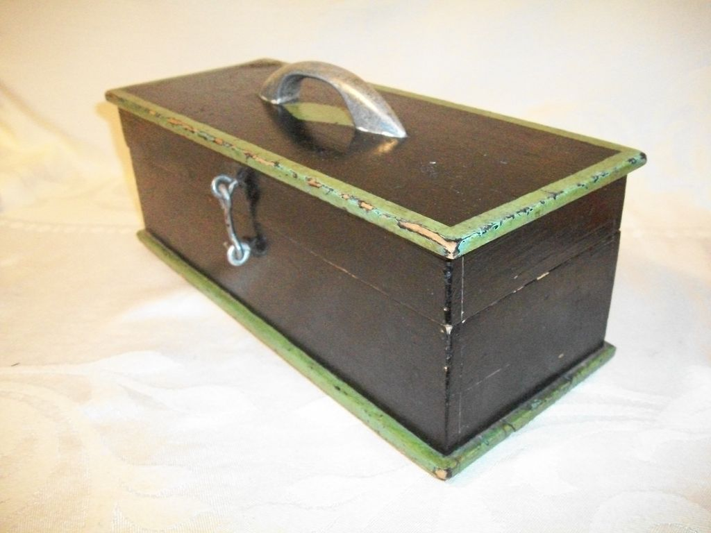 Vintage Wooden Coin or Change Box