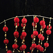 Vintage Honeycomb Christmas Garland