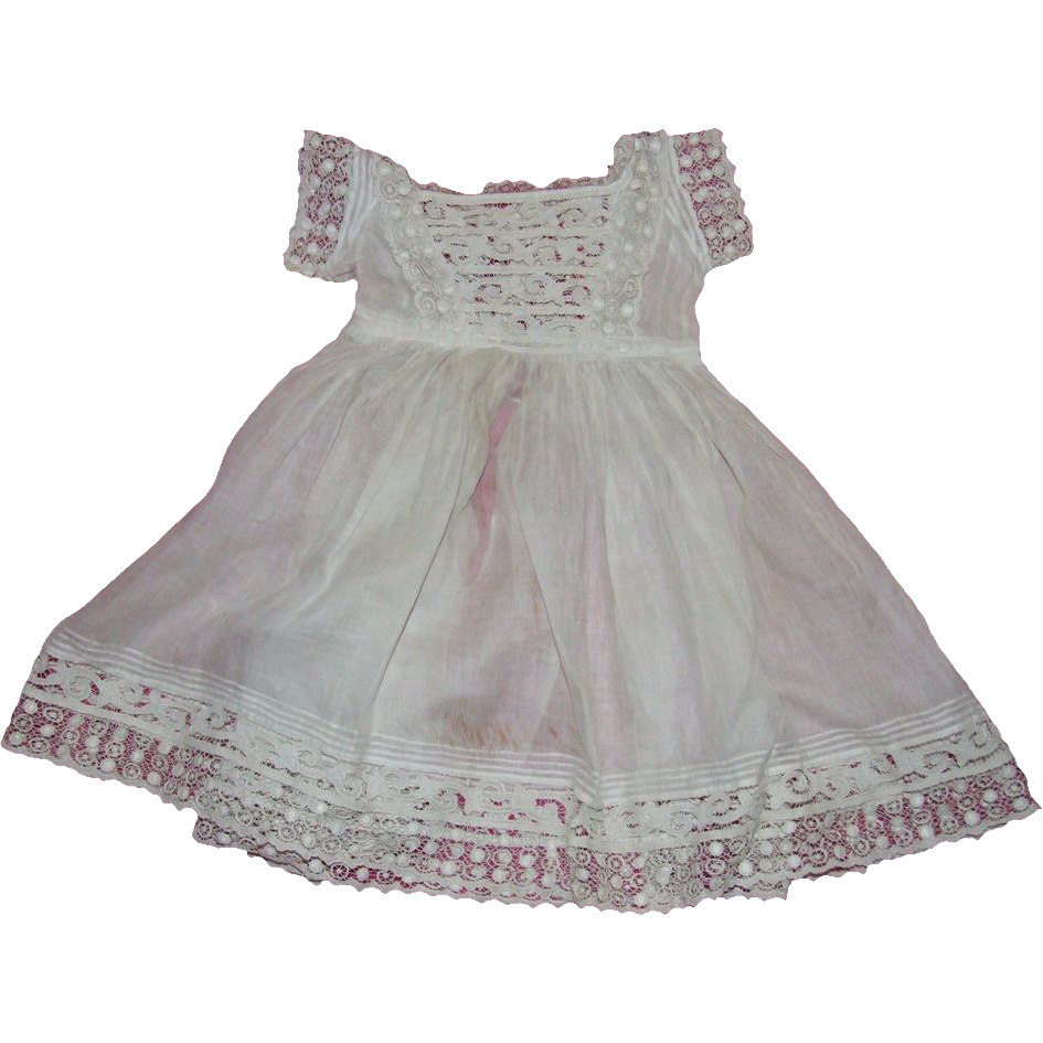 "Exquisite 19th century toddler's dress (perfect for 30"" doll)"