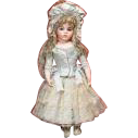 Antique Aqua and Cream silk & cotton 2pc. outfit for Bru Jne 7