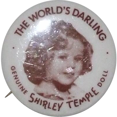 Replacement Shirley Temple doll's button