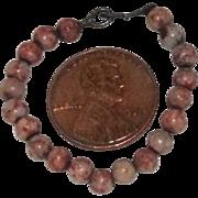 """3-1/2"""" antique """"tiger skin"""" jasper necklace"""