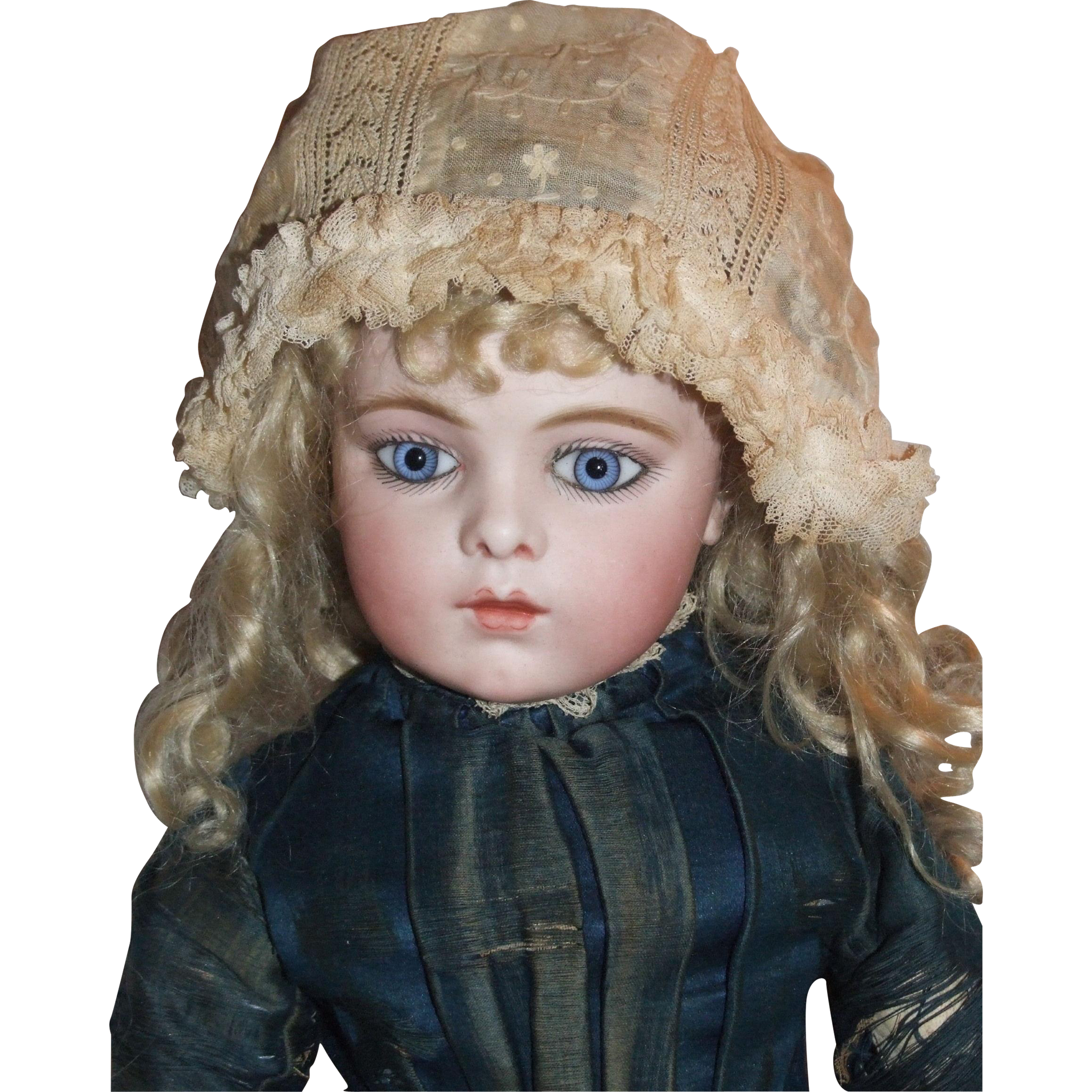 Delicate antique baby or doll bonnet