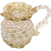 Vintage blown glass pitcher