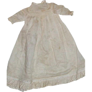 "Vintage baby gown for 10-12"" doll"