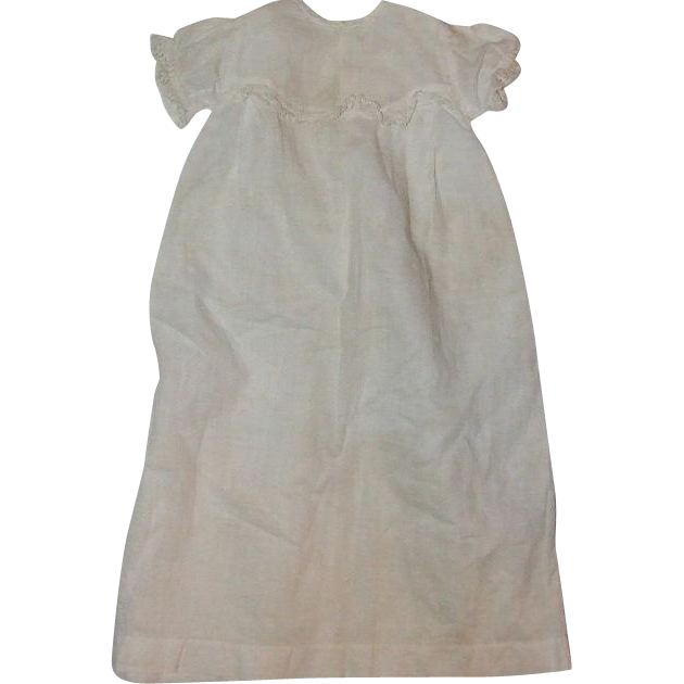 "Antique baby gown for 16"" doll"