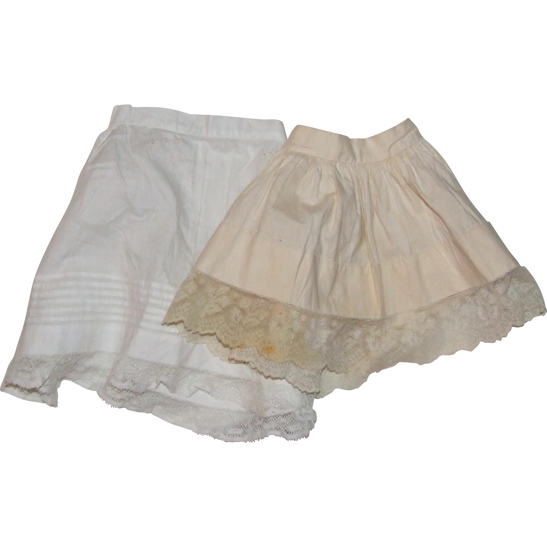 2 antique petticoats for bebes