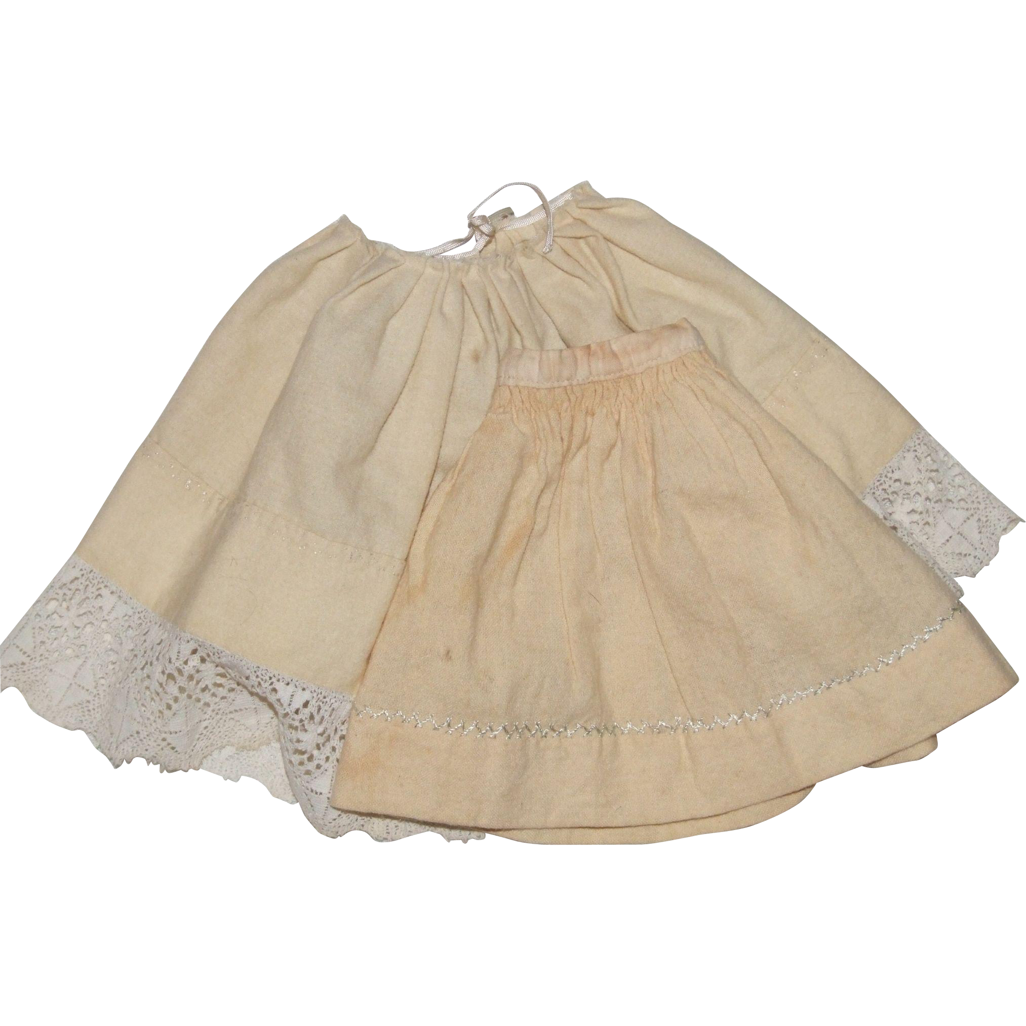 2 Antique petticoats for dolls