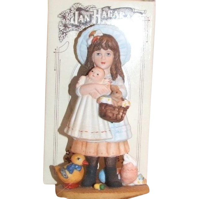 "5-1/2"" Victoria, hand painted porcelain figurine, by Jan Hagara 1982"