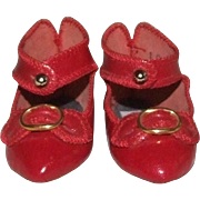 VINTAGE French-Type leather shoes from 1960s-70-s