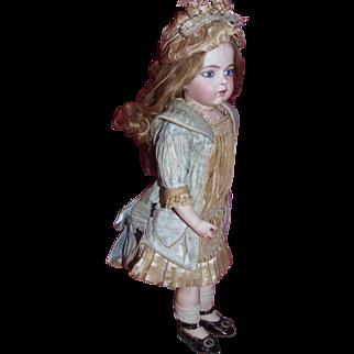 """Antique Bru dress for 18"""" bebe"""