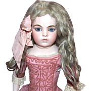 """Antique blonde mohair doll wig, 13-1/2"""""""