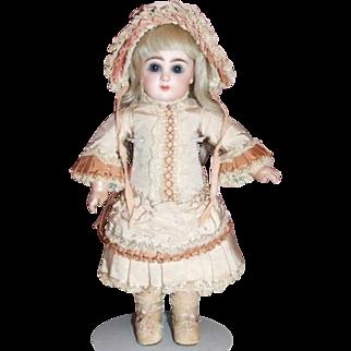 Antique Jumeau dress (petite) & bonnet
