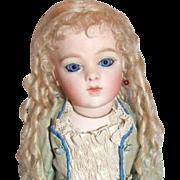 """7-1/2"""" mohair wig Wendy Feidt, 1989"""