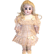 """Cotton and silk antique dress for 9"""" doll"""