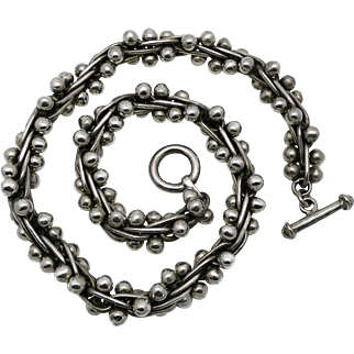 """164 Gr Sterling Silver DNA Necklace 18 1/2"""""""