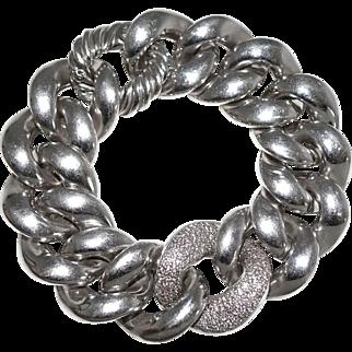 Large David Yurman Pavé Diamond Sterling Silver Cordelia Bracelet