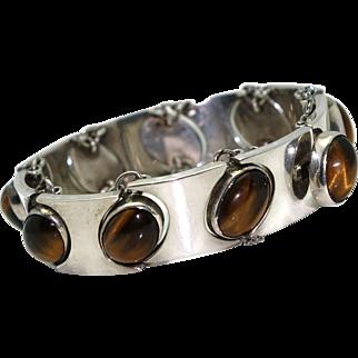 RBC Mexican Modernist Floating Gemstone Sterling Silver Bracelet