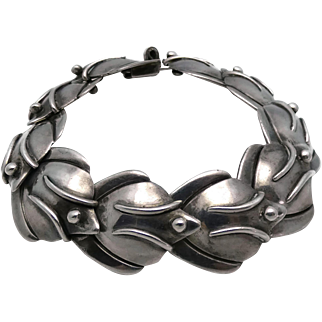 Rare Gabriel Flores .940 Silver Taxco Mexican Bracelet