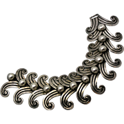 Superb Margot de Taxco Mexican Double Swirl Sterling Silver Bracelet