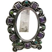 Matilde Poulat Matl Eagle 129 Amethyst Turquoise Sterling Silver Frame