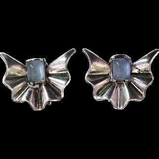 Marcel Boucher Parisina Mexican Sterling Silver Earrings