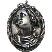 Henryk Winograd .999 Silver Marie Antoinette Pendant