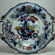 Hand Painted Gaudy Ironstone Tazza –  Circa: Mid 1800's