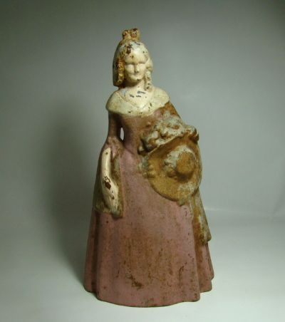 Cast Iron Southern Belle Doorstop – Circa: Late 1800's - Early 1900's